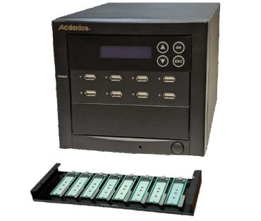 1:7 USB NVMe/Flash/HDD Duplicator (model: UDFHNVM7)