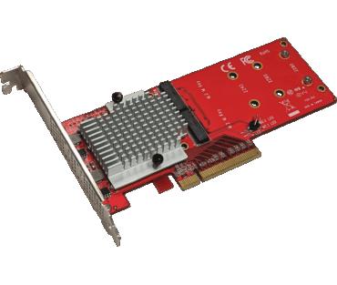 Dual NVMe PCIe adapter (Model: AD2M2NVMPX8)