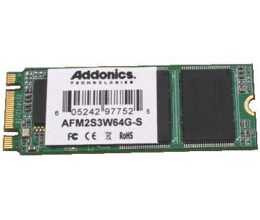 Industrial M2 SLC SSD (model: AFM2S3W64G-S)