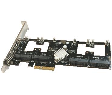 Quad mSATA PCIe SSD (Model: AD4MSPX2-A)